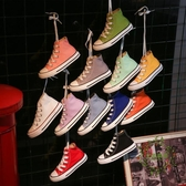 兒童帆布鞋春秋款正韓高幫板鞋男童女童鞋寶寶小白鞋休閒布鞋