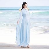 改良旗袍21年秋裝新款中國風立領修身顯瘦披風旗袍雪紡仙女復古連身裙女 雙十一鉅惠