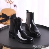 雨靴 雨鞋女短筒韓國可愛成人時尚款外穿水鞋雨靴防水套鞋加絨保暖