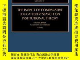 二手書博民逛書店The罕見Impact Of Comparative Education Research On Institut