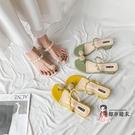 高跟拖鞋 拖鞋女外穿2020新款少女心涼拖鞋網紅半托鞋時尚港風夾趾拖鞋高跟 3色