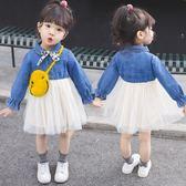 全館83折女寶寶2春裝2019新款1超洋氣公主3歲女童裝嬰兒童幼兒春款連身裙0