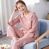 【618好康又一發】睡衣女夏純棉寬鬆女士薄款全棉家居服套裝