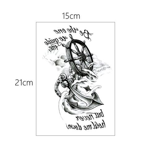紋身貼 半臂紋身貼男女防水持久花臂圖騰英文網紅手臂逼真刺青貼紙1份4張