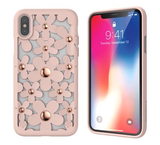 SwitchEasy Fleur iPhone X/Xs/Xs Max 3D花朵吸震防摔保護殼-玫瑰粉
