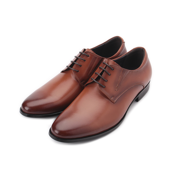 Meurieio Belliei 真皮綁帶德比皮鞋 棕 1836-13A 男鞋 鞋全家福