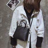 包包女新款百搭小方包少女小挎包撞色簡約手提包單肩斜挎包【快速出貨八折優惠】