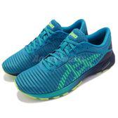 Asics 慢跑鞋 Dyna Flyte 2 藍 黃 輕量避震 運動鞋 男鞋【PUMP306】 T7D0N4107