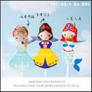 DIY裝入「台灣球型棒棒糖+紙卡」(公主系列:冰雪奇緣/小美人魚/白雪公主可選)小朋友生日分享