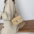 鍊條包 網紅白色鍊條小包包女2021新款潮時尚百搭高級感流行斜挎包小方包 歐歐