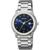 LICORNE力抗 entrée 品味生活時尚手錶-藍x銀/41mm LT120MWNI