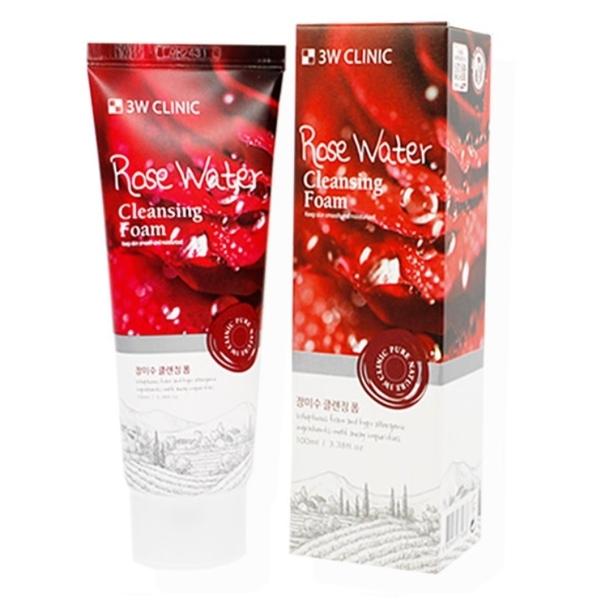 ●魅力十足● 韓國 3W CLINIC 玫瑰冷翠洗面乳 100ml