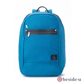 beside u BNUM 防盜刷商務型大空間防潑水13吋筆電行李箱拉桿後背包 – 藍色 原廠公司貨