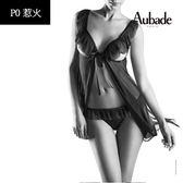 Aubade惹火-網紗外罩+小褲P043