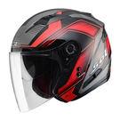 SOL SO-7 星際 黑/紅 3/4罩安全帽 SO-7 OPEN FACE HELMET