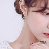 耳墜長款耳環925銀針耳釘韓國女耳飾【聚物優品】