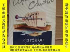 二手書博民逛書店Cards罕見on the table【 臺上的卡片,阿加莎·克