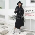 綁帶裙半身裙韓國女秋冬高腰新款不規則開叉裙子中長款顯瘦顯高 街頭布衣
