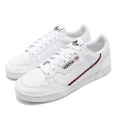 adidas 休閒鞋 Continental 80 白 紅 皮革 基本款 經典復刻 男鞋 女鞋 運動鞋【PUMP306】 G27706