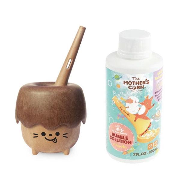 Mother's Corn 小木森林兒童泡泡玩具(款式隨機出貨)+超多泡泡補充罐(200ml)
