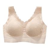泰國乳膠內衣女無鋼圈運動文胸小胸聚攏無痕背心式胸罩蕾絲美背薄
