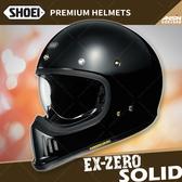 [中壢安信]日本 SHOEI EX-ZERO 素色 黑色 全罩 安全帽 復古越野 山車帽 哈雷