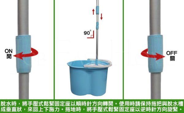 專利《真心良品》360°旋轉手壓式脫水拖把組(1拖2布)