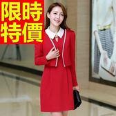 OL套裝(長袖裙裝)-上班族商務時尚韓版職業制服3色59q13【巴黎精品】