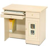 Homelike 自然風味電腦桌(白橡木紋)