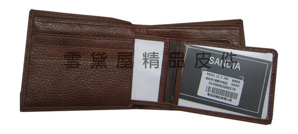 ~雪黛屋~MoDo 短夾專櫃男仕短型皮夾100%進口牛皮革材質標準尺寸活動型證件夾BMD0211340