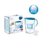 【德國BRITA】馬利拉花漾濾水壺 純淨藍3.5L(含2個濾芯)