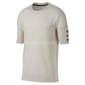 Nike T恤 Rise 365 Half Sleeve Top 五分袖設計 米白 勾勾 男款 【ACS】 928542-008