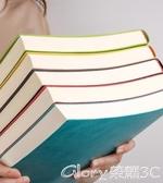 筆記本a4本子加厚大號商務記事本工作記錄本超厚軟皮空白日記本大學