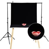 拍照背景布攝影黑絨布拍攝道具攝影棚素色白黑色吸光植絨布不反光特賣