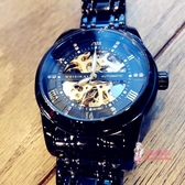 機械錶 2020概念手錶男士機械錶男錶全自動鏤空運動潮流學生時尚防水腕錶 5色