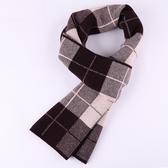 羊毛圍巾-保暖時尚格紋針織男披肩3色73wh28【時尚巴黎】