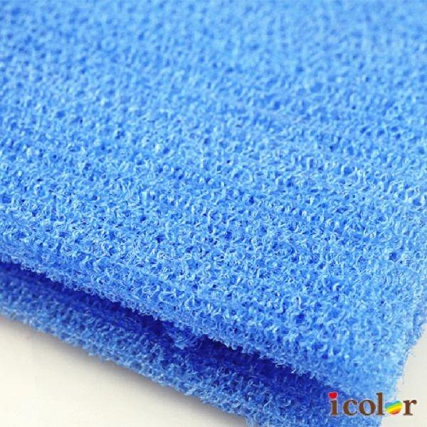 icolor 男用尼龍沐浴巾 刷背巾(藍色)