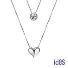 ides愛蒂思 時尚輕珠寶晶鑽項鍊/甜心