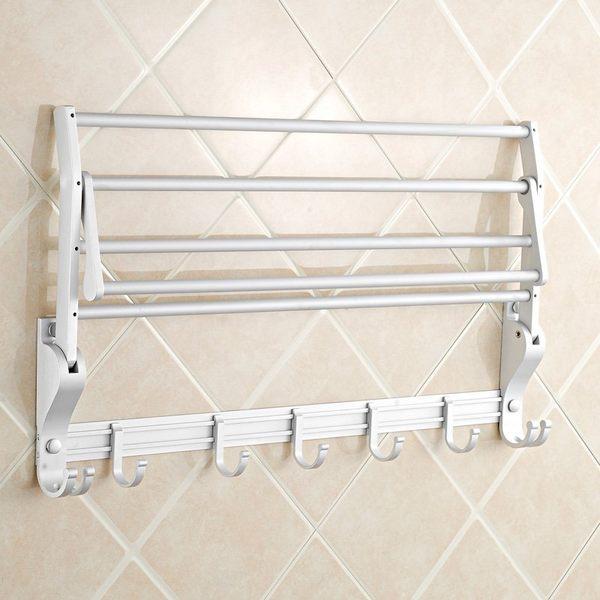 小熊居家浴巾架 毛巾架 太空鋁 衛生間浴室置物架 潔具 廚衛衛浴掛件套餐特價