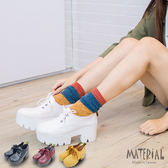 厚底靴 韓版3孔綁帶低筒馬汀厚底靴 MA女鞋 T5703