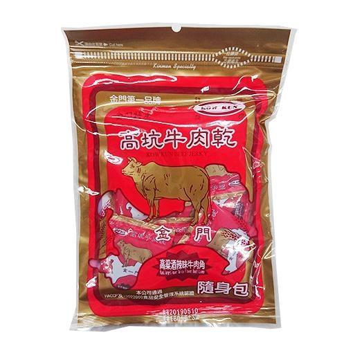 金門高坑牛肉乾隨身包-高梁辣味牛肉角180g【愛買】