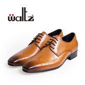 Waltz-經典沖孔雕花德比鞋212174-06(棕)