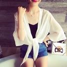 【Charm Beauty】雪紡衫 小披肩 短外套女 夏季 短款 開衫 沙灘 衣服 防曬衣女 夏薄 大碼