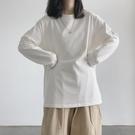 長袖 長袖T恤女春春純色內搭打底衫韓版潮學生外穿寬鬆上衣服【快速出貨八折搶購】