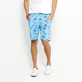 SISJEANS-藍色夏威夷風休閒五分褲【1617200308】