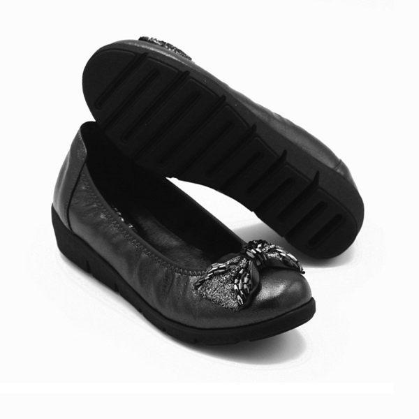 【W&M】閃亮水鑽厚底娃娃鞋 女鞋-黑(另有藍)