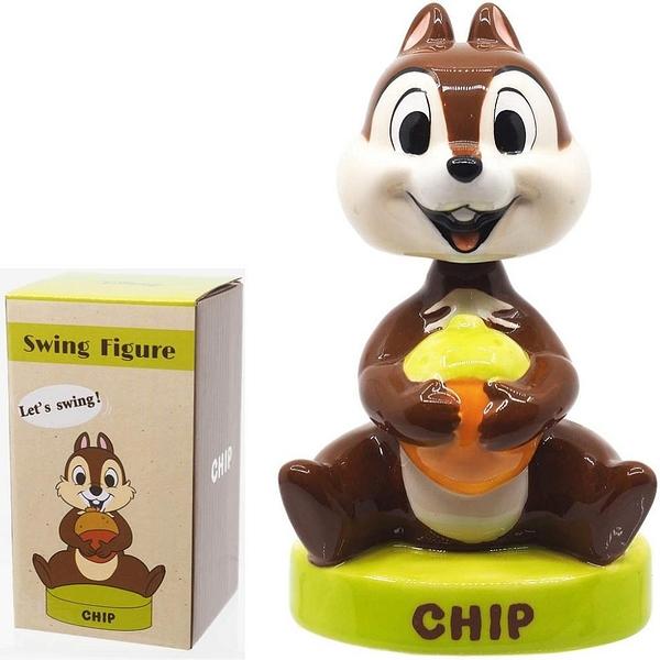 【震撼精品百貨】迪士尼 DISNEY 奇奇&蒂蒂 CHIP&DALE 陶瓷搖頭擺飾*25470