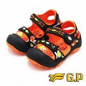 【G.P】快樂護趾童涼鞋 童鞋-橘(另有藍綠、紫)