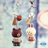 新年85折購 鑰匙圈正韓布朗熊鑰匙扣可愛創意女生包包汽車掛件情侶鑰匙鍊掛飾品禮物