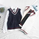 針織馬甲女-韓版寬鬆學院風針織馬甲女背心外穿毛衣學生毛線馬夾新款秋季 多麗絲